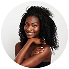 woman with beautiful hair and skin