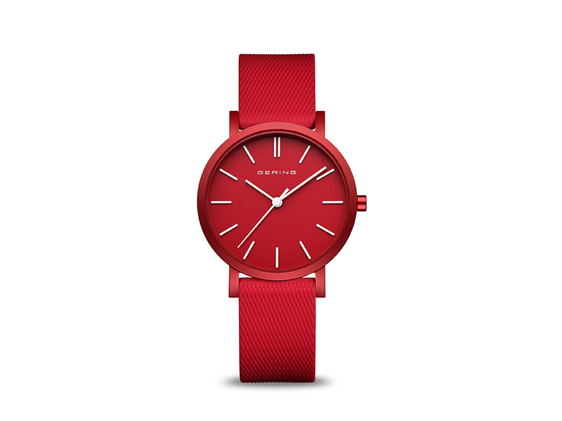 Reloj Bering Cristal de zafiro Reloj True Aurora Plano Bering Mujer Diseño clásico Reloj Bering
