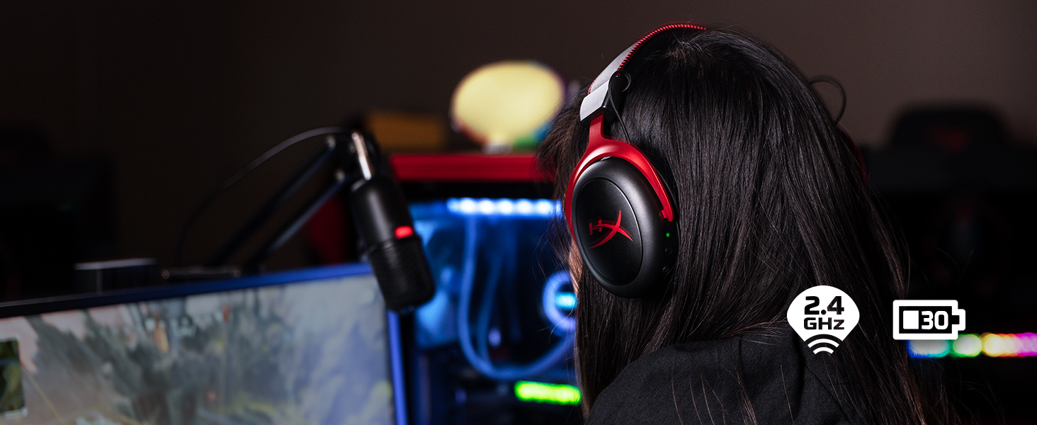 Gaming-grade wireless with long battery life