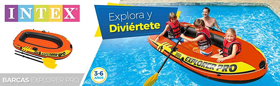 Intex 58356NP - Barca hinchable Explorer Pro 200 - 196 x 102 x 33 ...