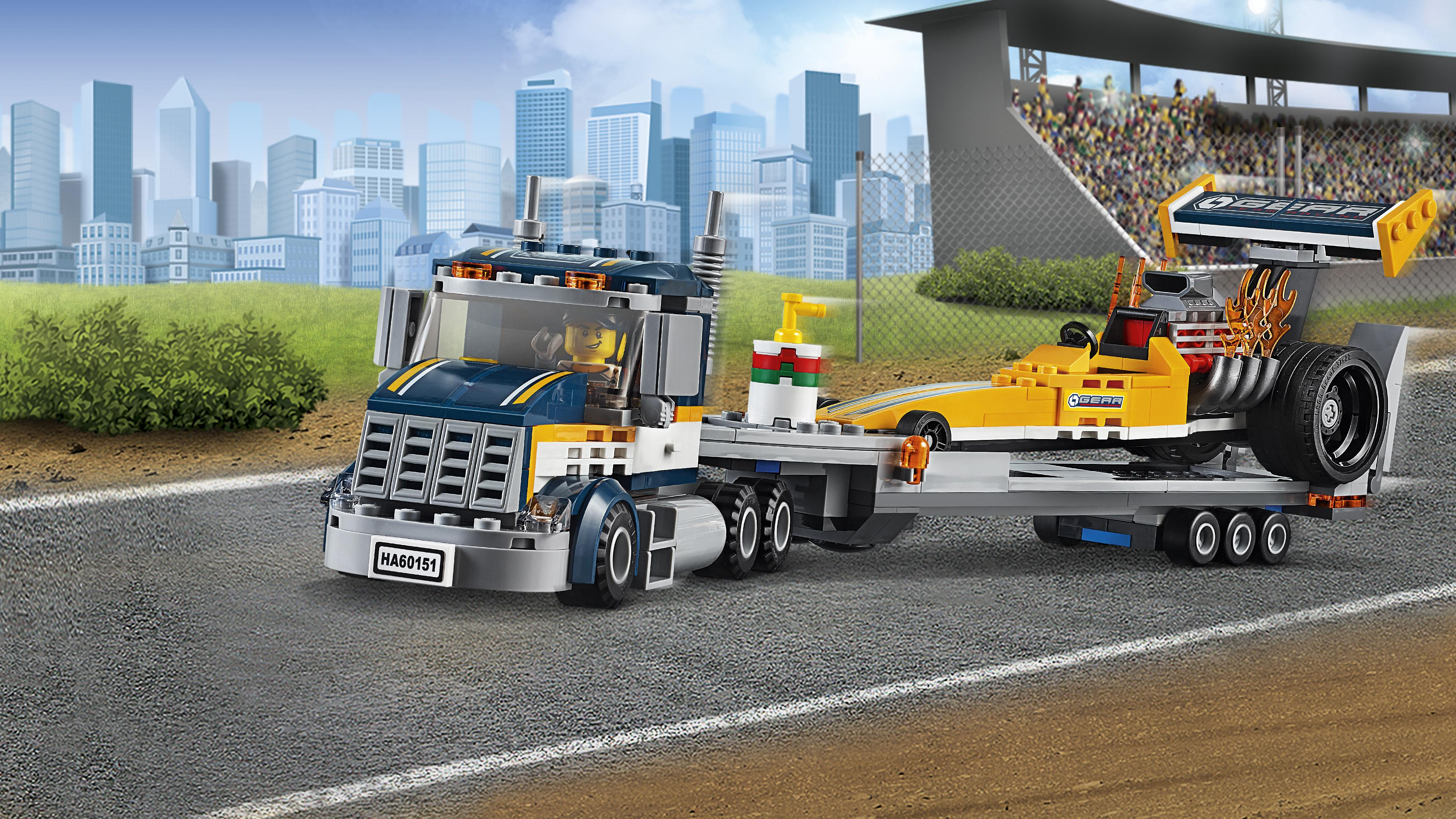How to build the lego dragster transporter truck