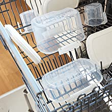 Sistema Bake IT Containers are freezer safe and top-rack dishwasher safe