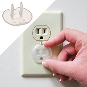 prevents kids inserting objects 48 Pack Power Point Safety Plugs Covers