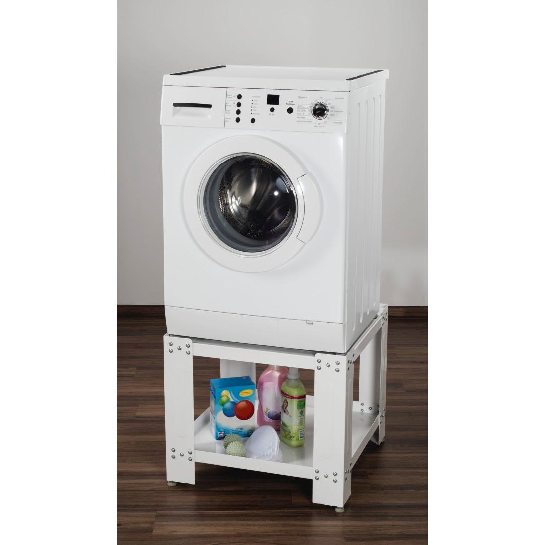 xavax trockner waschmaschinen untergestell mit bodenfach 60x60cm unterbau sockel mit. Black Bedroom Furniture Sets. Home Design Ideas
