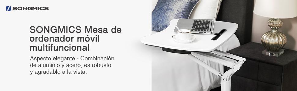 SONGMICS Mesa de Ordenador móvil, Estación de Trabajo de Altura ...