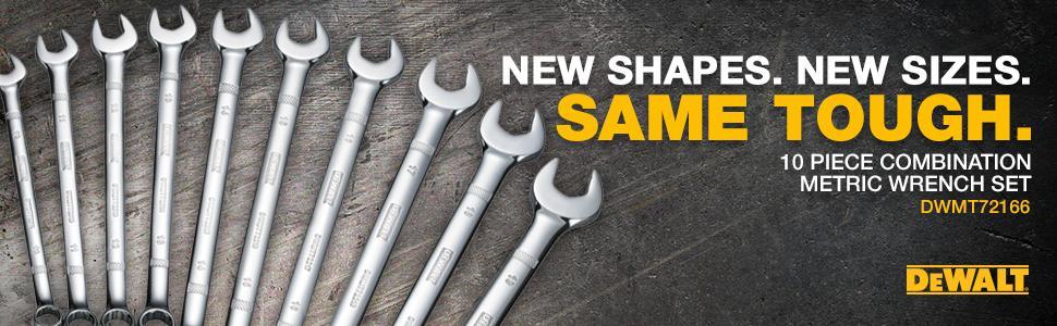10 Piece DeWalt DWMT72166 Combination Wrench Set