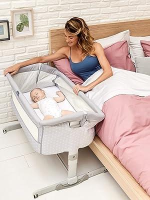 Chicco Next 2 Me Dream - Cuna de colecho con anclaje a cama, balancín y 11 alturas, Azul (Navy)