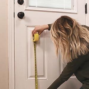install pet door; diy installation; how to install pet door; measure pet door; interior door; doggo