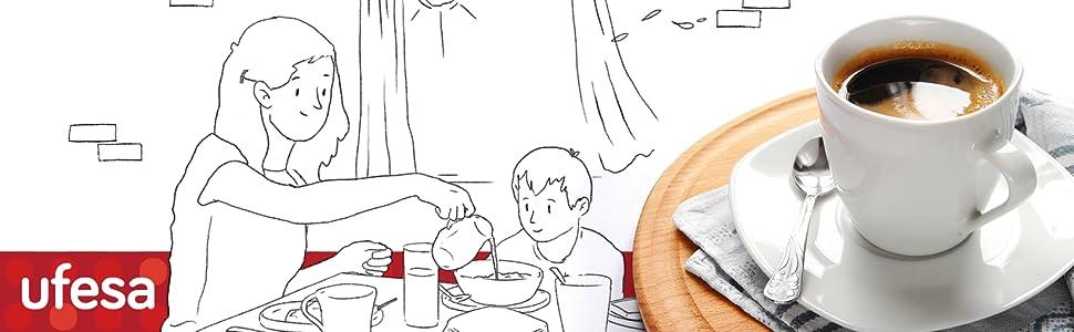 Ufesa CE7255 Cafetera Expresso y Capuccino con Panel Táctil ...
