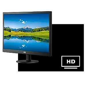 AOC e2070swhn 20-Inch Class LED Monitor, 1600 x 900 Resolution, 20M:1 DCR, 5ms, VGA,HDMI,VESA