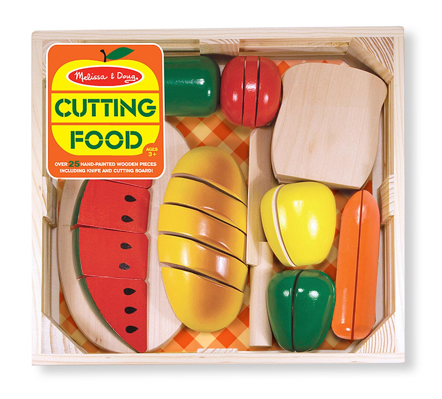 Melissa And Doug Wooden Kitchen: Amazon.com: Melissa & Doug Cutting Food Wooden Play Food