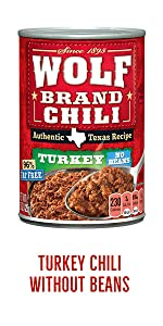 Wolf Brand Canned Turkey Chili without Beans