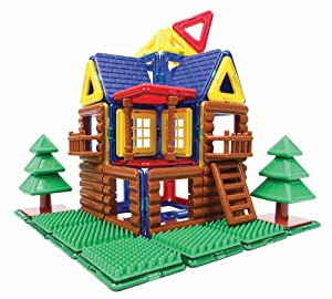 Amazon Com Magformers Log Cabin Toy Set Building