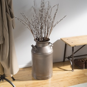 matte hammered brown stops rust spray paint home decor milk can