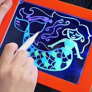 magic pad tablette magique lumineux jouets famille