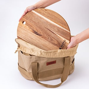 帆布フリーバッグ(別売)の底に収まるピッタリサイズ