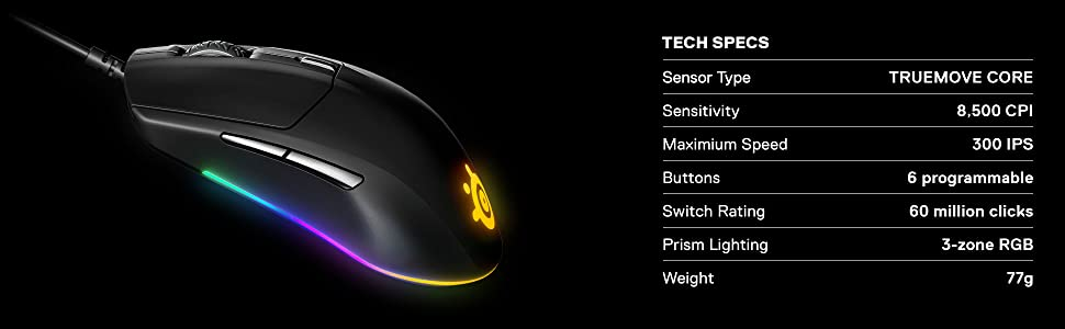 SteelSeries Rival 3 Gaming Mouse