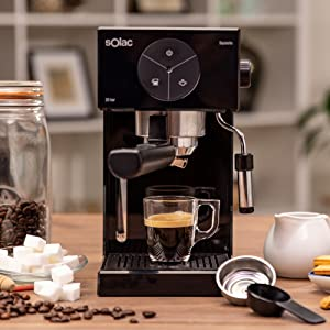Solac S92011100 Ce4501 Squissita Cafetera, Doub Cream, Espresso y Cappuccino, Acero Inoxidable, Multicolor