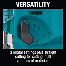 versatility three orvital settings striaght cutting all varieties of materials