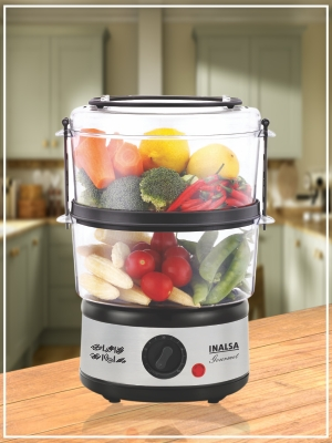 inalsa, food steamer, home appliances, gourmet