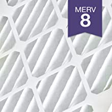 Nordic Pure 16/_3//8x21/_1//2x1 Exact MERV 13 Tru Mini Pleat AC Furnace Air Filters 6 Pack