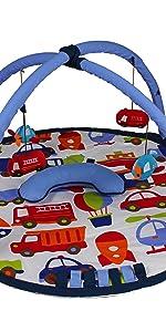 Bacati - Baby Activity Gyms amp; Playmats (Transportation Blue/Multi)