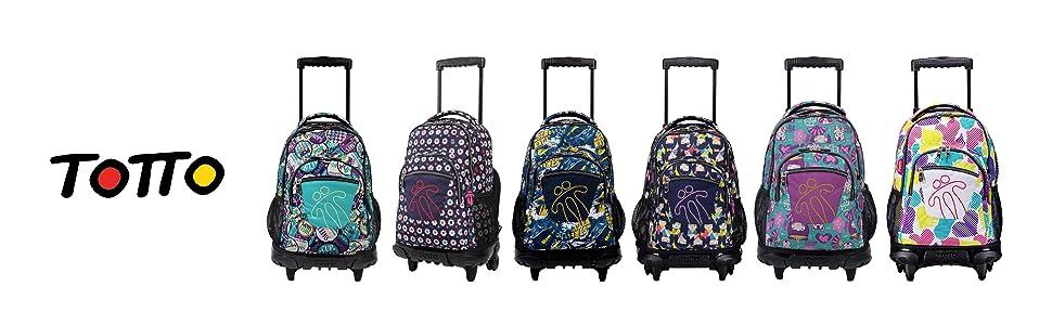 Mochilas Totto, mochilas con ruedas, mochilas escolares con ruedas