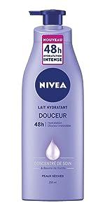 Lait hydratant beurre de karité peau douce lisse souples et hydratée soin intense jambes décolleté