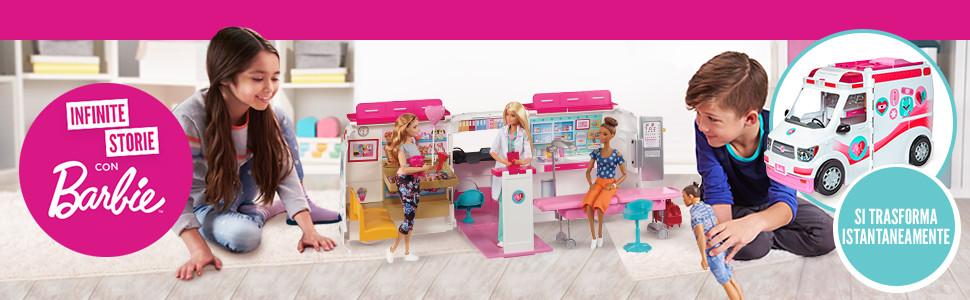 Barbie Ambulanza, Trasformabile in Clinica Mobile con Tanti Accessori