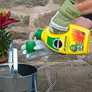 Miracle-Gro All Purpose Concentrated Liquid Plant Food is quickly prepared