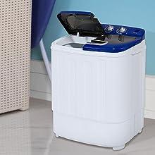 Amazon.com: Lavadora y ciclo de centrifugado en uno, mini ...