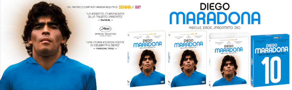 Diego maradona esclusiva amazon (limited edition) blu-ray + booklet + segnalibro + card EAN-13 8031179959297