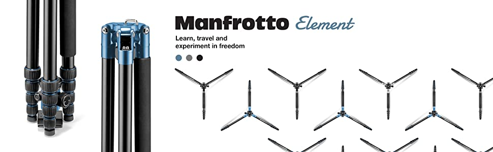 Manfrotto, Element, Travel Tripod, Compact