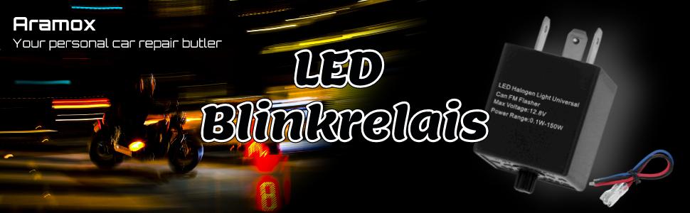 Suuonee Led Blinkrelais Universal 12v 24v 3 Pin Einstellbare Led Blinkrelais Blinker Licht Blinker Für Automotive Motorrad Auto