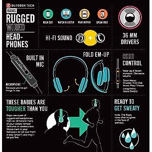 BAJAS DURABLE, HIGH-FIDELITY ON-EAR HEADPHONES