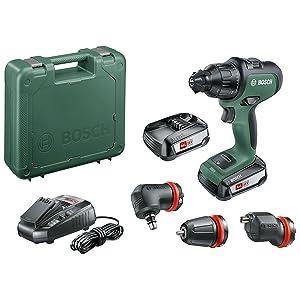 Bosch - Atornillador combinado AdvancedImpact 18 (2 baterías, sistema de 18 V, con accesorios, en caja)