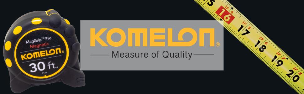 Komelon, Komelon Tape Measure, magnetic end hook, magnetic tape measure, magnet, tools, measure tool