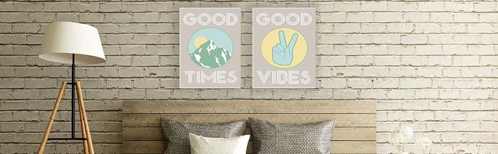 Rectangle Wall Plaque Set WPS-601 The Kids Room by Stupell Distressed Musical Notes 4-pcs