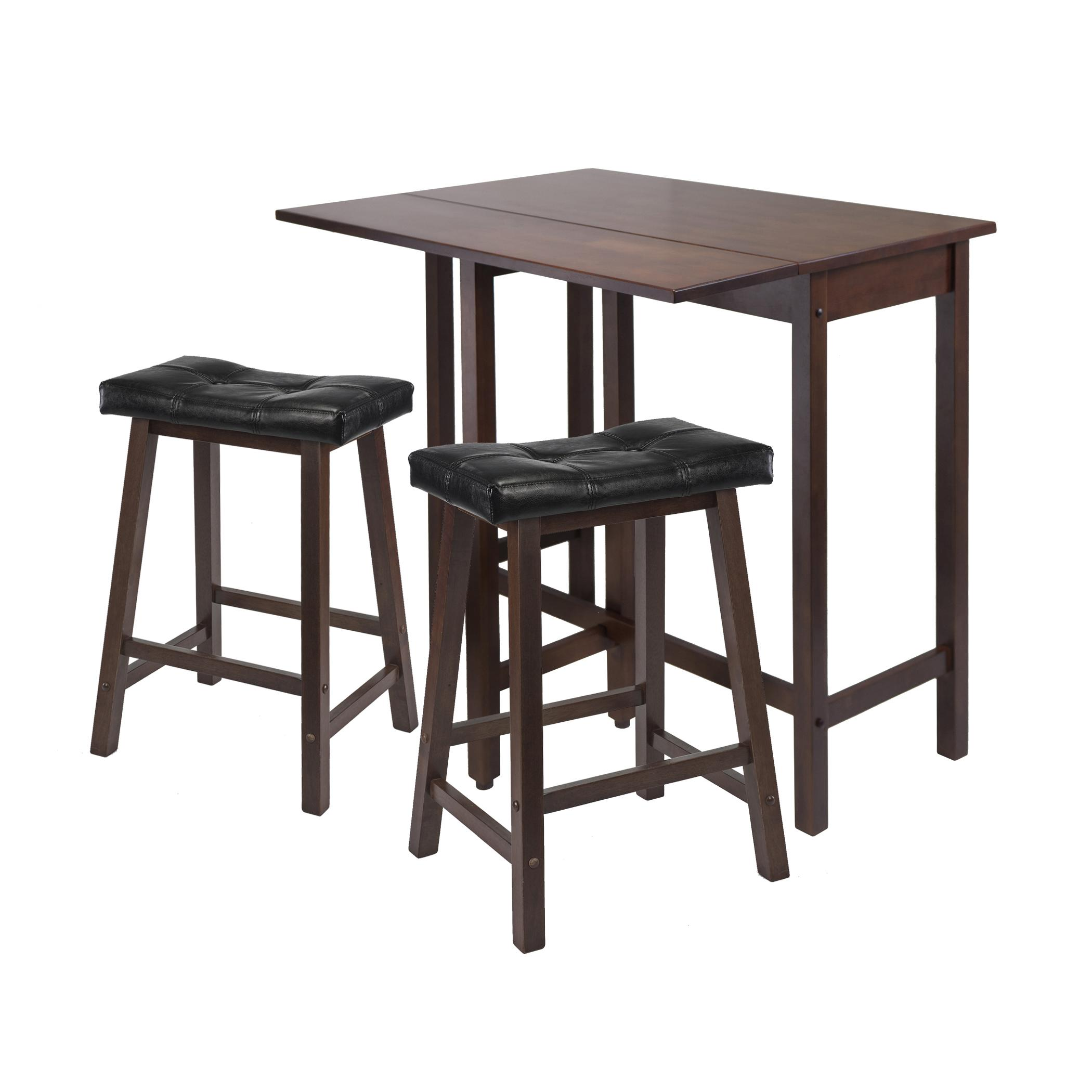 Amazon Winsome Lynnwood Drop Leaf Kitchen Table with 2