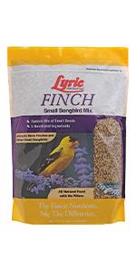 lyric, bird seed, bird food, lyric bird seed, wild bird seed, small bird food mix, finch bird seed
