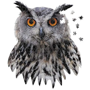 Madd Capp Puzzles - I AM Owl - 550 Pieces - Animal Shaped Jigsaw Puzzle