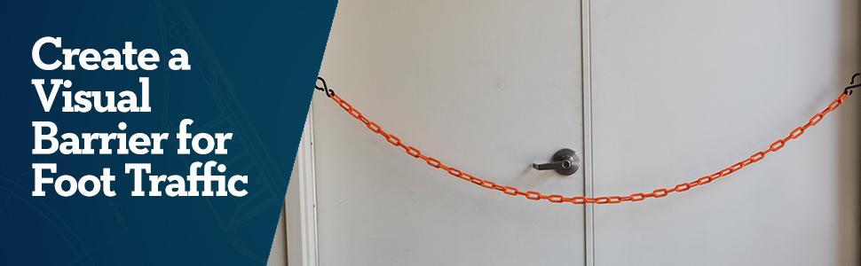 US Weight ChainBoss Plastic Chain 125 Feet Orange U2333ORG