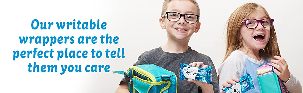 Make your child smile at lunch with a sweet note on a Rice Krispies Treat writable wrapper