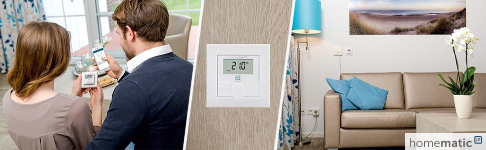 homematic ip wandthermostat mit schaltausgang f r markenschalter 24v 150697a0. Black Bedroom Furniture Sets. Home Design Ideas