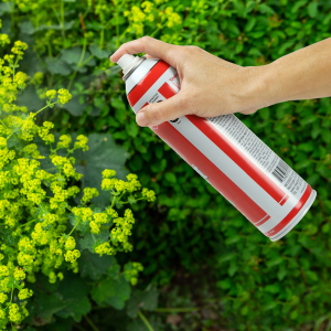 Animal Stopper Spray Can Product In Use