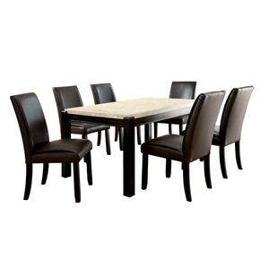 Amazon.com - Furniture of America Minna Contemporary Genuine ...