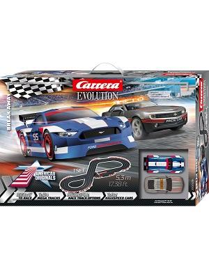 Carrera Evolution Break Away Slot Car Set 1:32 Scale Electric Analog Racing Track 20025236