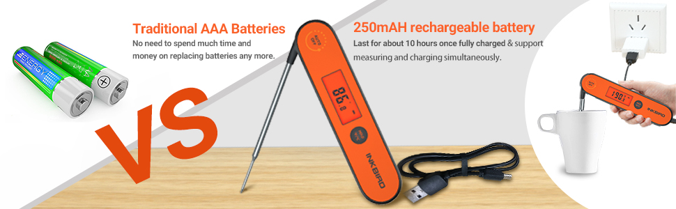 rechargeable meat thermometer