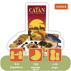 Devir - Catán, ampliación para 5 y 6 jugadores en catalán (BGCAT56) (versión en catalán): Amazon.es: Juguetes y juegos