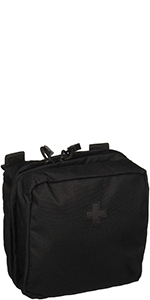 """5.11 Tactical 6"""" x 6"""" Multi-Compartment Mesh Pockets Medical Pouch"""